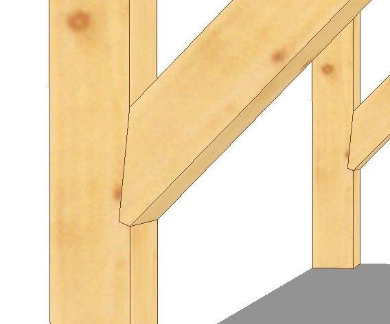 Zadaszenie jednospadowe, przejście 106 - 256 cm