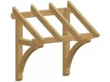 Zadaszenie jednospadowe z łukami, przejście 106-256 cm