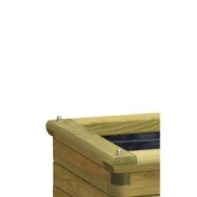 Donica drewniana Denis - kolor Zielony