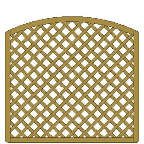 Kratka drewniana Manta z łukiem 178 x 170/149 cm