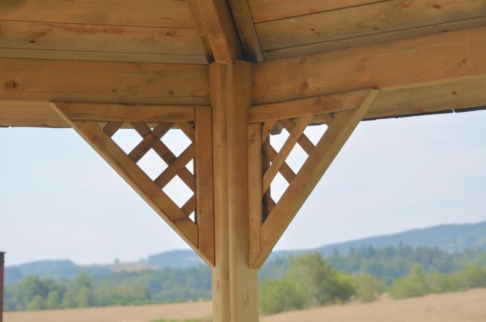 Altana drewniana Alba, 6 kątna mała
