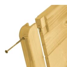 Płot drewniany Malaga z kołem
