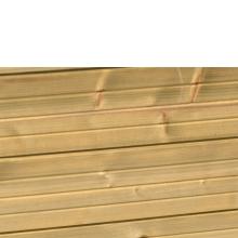 Płot drewniany Palma z kratką