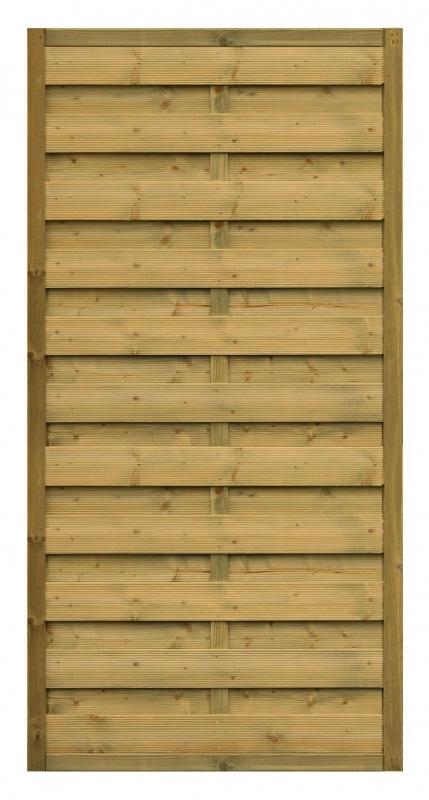 Płot drewniany Roma prosty 178x89 cm - 90x179 cm/B x H