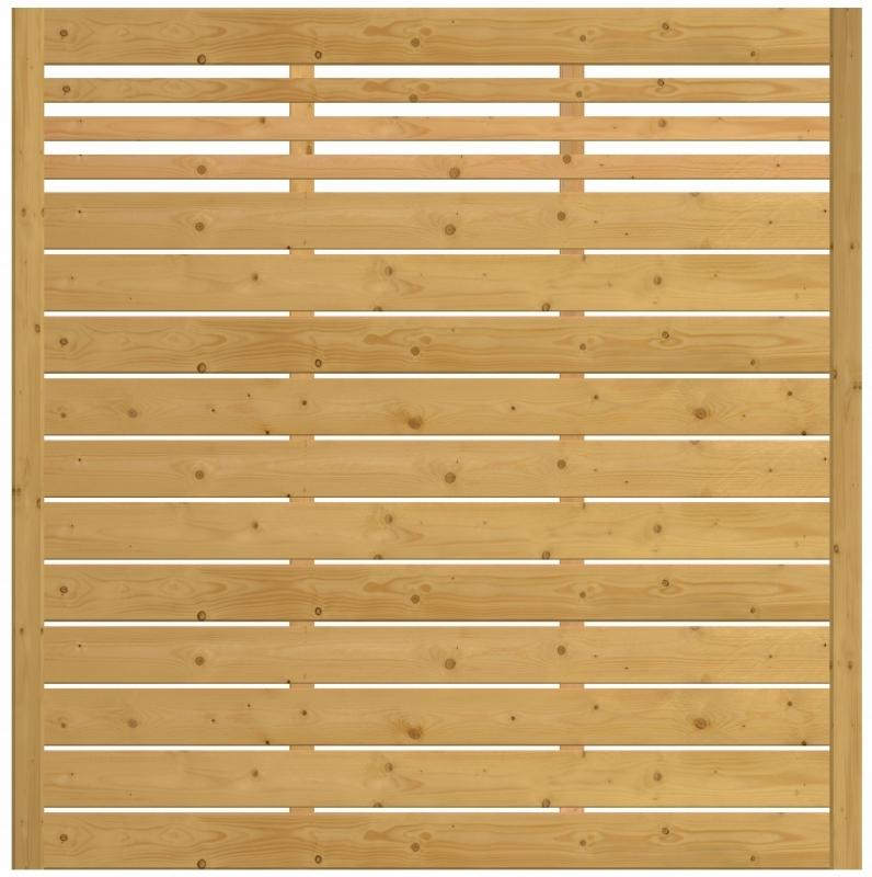 Płot drewniany Bergamo 178x180 cm z prześwitami