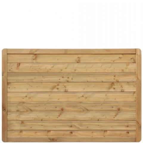 Płot drewniany Malaga pełny 178x119