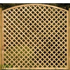 Kratka drewniana Ester z łukiem 179 x 180/159 cm