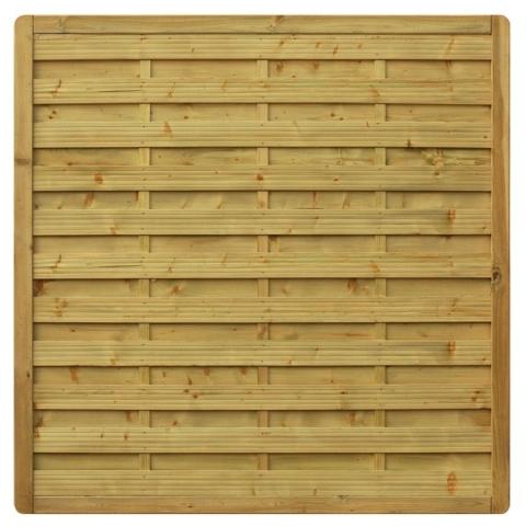 Płot drewniany Aragon prosty