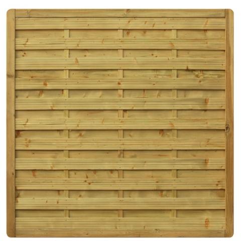 Płot drewniany Aragon prosty 178x179 cm