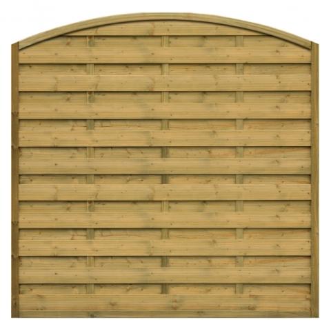 Płot drewniany Roma z łukiem 178x180/159 cm