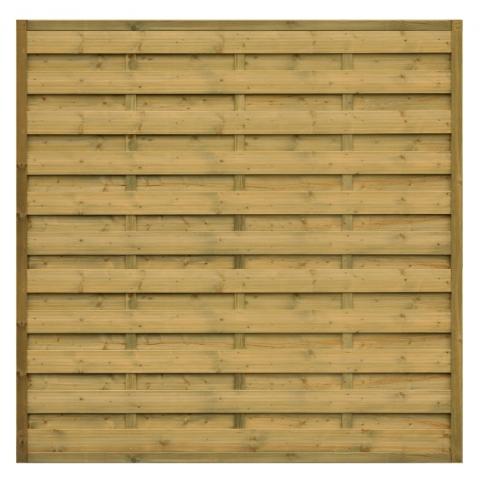 Płot drewniany Roma prosty 179x179 cm