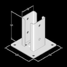 Podstawa słupa do przykręcenia - 72x150x2,0
