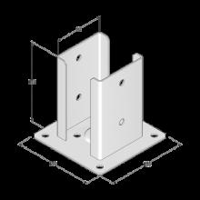 Podstawa słupa do przykręcenia - 92x150x2,0