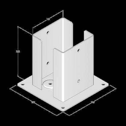 Podstawa słupa do przykręcenia - 142x200x3,0