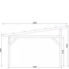 Zadaszenia wolnostojące szerokość 400 cm
