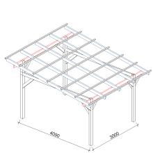 Zadaszenia wolnostojące szerokość 400 cm - 300 cm
