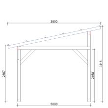 Zadaszenia wolnostojące szerokość 450 cm